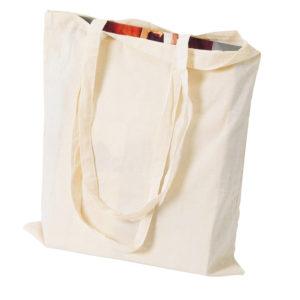 Logoga puuvillasest riidest kott